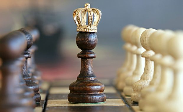 Image showing a king on a chess board