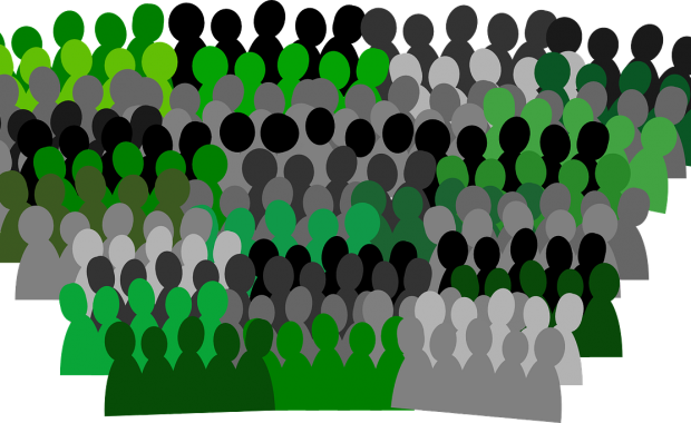 Image illustration of a crowd of people