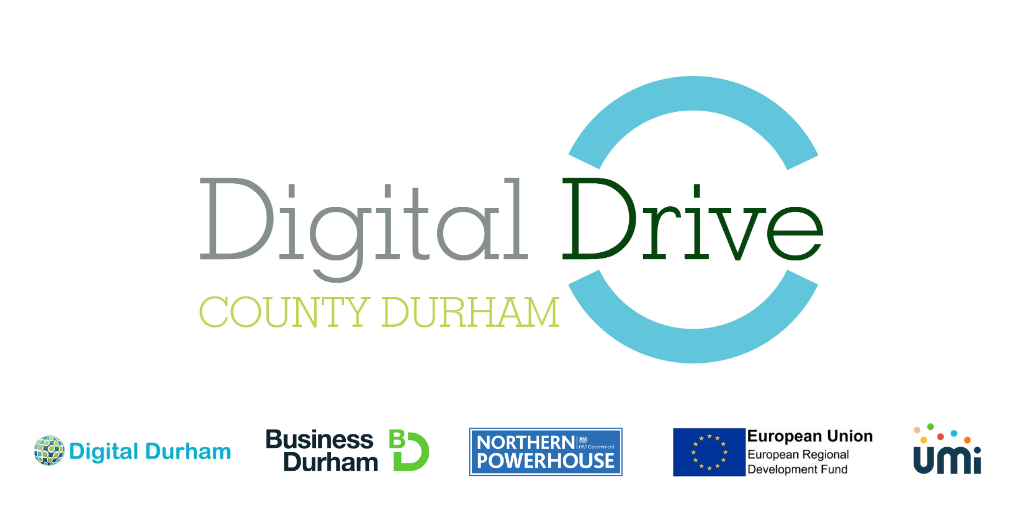 Logo representing Digital Drive County Durham, Funding & Business Support